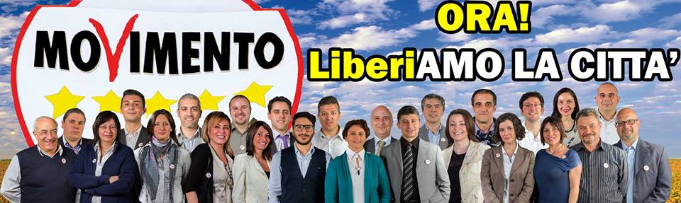Il movimento 5 stelle chiude la campagna elettorale a for Deputati movimento 5 stelle