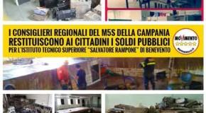 RestitutionDay M5S: 105.000 euro per la scuola colpita dall'alluvione
