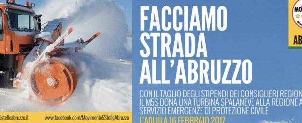 Il MoVimento dona una turbina spazzaneve alla Protezione Civile in Abruzzo
